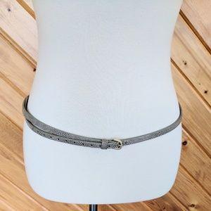 J.Crew Skinny Belt in Snakeskin Design